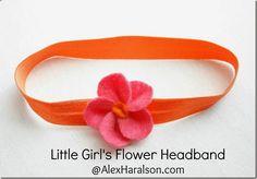 Little Girl's DIY Flower Headband Tutorial