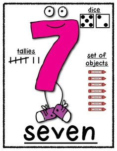 "FUN Math Number POSTER Set:  0-10  ""Ways to Show"" Supports Common Core!"