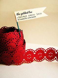 vintage paper lace