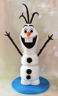 """3D Olaf Cake ~ 31"""" tall"""