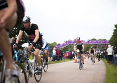 Around 3,000 people took part in the London Duathlon 2013.