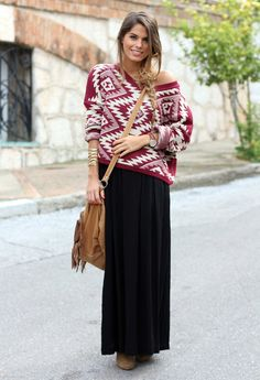 Aztec  , MadLady in Sweaters, H in Skirts, Zara in Ankle Boots / Booties