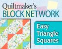 How to Make Easy Triangle-Squares: Mark, Sew