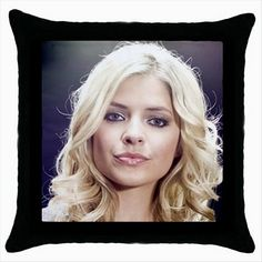 HOLLY WILLOUGHBY Black Cushion Cover Throw Pillow Case  http://stores.shop.ebay.co.uk/giftbazaar