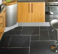 Slate floor tile. Love.