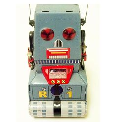 Tin Toy Robot Metal Vintage | Vintage and Retro Space Age Raygun, Rocket and Robot Toys | Sugary.Sweet | #SpaceAge #Toy #Robot #SciFi