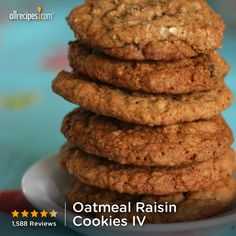 "Oatmeal Raisin Cookies IV | ""Mine turned out amazing! I followed these to the letter. My only wish was that I had read the reviews first and added more cinnamon! These are NOT going to last long!"""