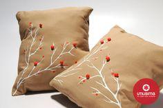 Fundas con ramas de cerezos, by Agustina Gallo. Hecho en casa. http://www.utilisima.com/manualidades/8824-fundas-con-ramas-de-cerezos.html