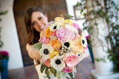 #ShabbyChic #Wedding #DesertWedding #LaQuintaResort #WeddingBouquet #AnenomeFlowers #Bride #Bridalbouquet