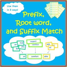 Use these Prefix   Root word   Suffix cards in many ways. It contains thirty sets of root words with their matching prefixes and suffixes... $2.00