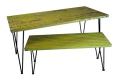 RePurpose : Vintage Slat Table and Bench Set     30% Off Sale Happening Now  http://shop.repurposeshop.com/