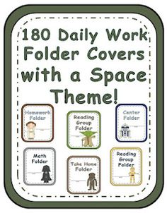 Fern Smith's 180 Spaced Themed Work Folder Covers! Each folder comes in all six characters.   Darth Vader, Yoda, Leia, Chewbacca, R2D2 and C3P0 on 15 Different Subject Folder Covers! Total of 180! $5