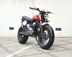 """Yamaha Scorpio """"The Red Tracker"""" by Studio Motor"""