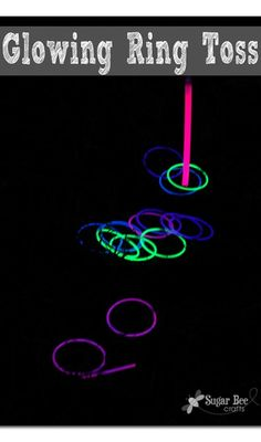 how to make a simple Glowing Ring Toss from the dollar store ~ Sugar Bee Crafts