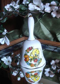 Vintage Ceramic Bell Tweety Bird Warner by BlessedBeyondBeelief