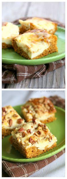 Pumpkin Cream Cheese Bars!