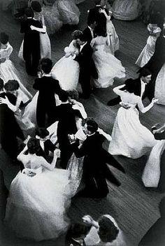 vintage photo of ballroom dancing