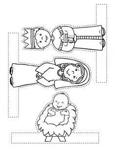 free printable kid Nativity Scene