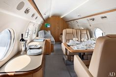 interior design, architectural digest, class flight, jet interior, beat fli