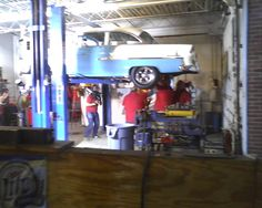 Another Reality shot under my 55 chevy for the show this fall on discovery channel