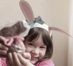 Free bunny ears printable for #Easter photos. So cute!  (Also has free printable lamb ears).