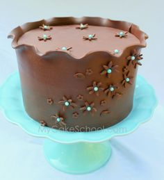 How to Wrap a Cake with Modeling Chocolate- Video