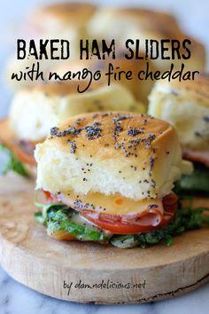 Ham and Mango Cheese Sliders