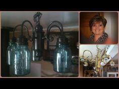 ▶ Mason Ball Jar Project - Primitive Chandelier - YouTube
