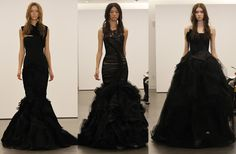 Black wedding gowns by Vera Wang