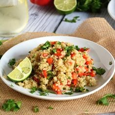 Red Pepper and Lime Quinoa Salad Recipe