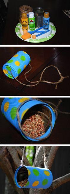 DIY Tin Can Bird Feeder