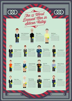 The 15 Worst Dressed Men in Silicon Valley [INFOGRAPHIC]