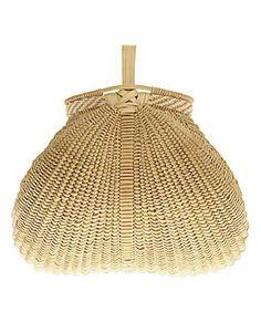 "Kentucky Egg Basket    HAND-SPLIT AND HANDWOVEN WHITE OAK, 7"" H x 7"" L x 7"" W, $2,000. AARON YAKIM AND CYNTHIA TAYLOR: 304-424-6559."
