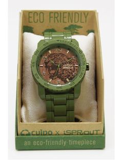 Cool Gifts for Dad: Buy this cool timepiece for dad (you know he relies on you for all fashion matters) and save a meter of endangered rainforest.