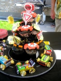 Cars made of candy