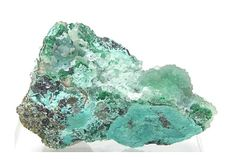 Green Malachite and Blue Chrysocolla covered by by FenderMinerals,