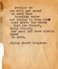 Never forget what you loved