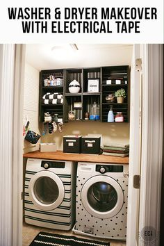 Washer & Dryer Facelift- Laundry Room Makeover