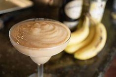 Banana Daquiri: •6 oz. Dark Rum  •2 tbsp Sugar  •Juice of 1/2 lime  •2 oz. Banana Liquor  •2 oz. Water  •2 Bananas (Peeled)