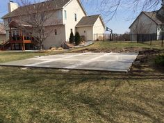 If you'd like a concrete basketball court in the Wichita, KS metro area, we've installed them with great success! If installed properly, a concrete slab can be used for a basketball court and last for many years.