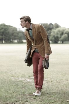 Fall. dapper, cotton, elbow patches, bow ties, men style, men fashion, bows, blazers, calves