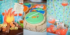 Summer Camp Themed Party (w/fish details)