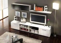 Mesa Lcd Modular Vajillero Centro De Entretenimiento Moderno - $ 2.500,00 en MercadoLibre sala tv