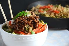 Soy Honey Asian Beef with Cauliflower Fried Rice | The Housewife in Training Files