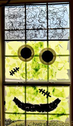 Frankenwindow- Giant Monster Window Art at Twodaloo
