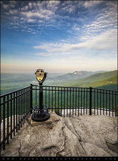A morning view of Table Rock State Park from the viewing platform at Caesars Head State Park in Upstate SC.