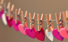 Hearts in Row Love Facebook Timeline Cover