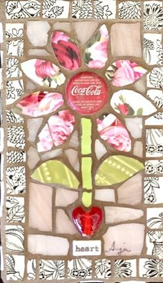 Bloom by Anja Hertle  ~  Maplestone Gallery  ~  Contemporary Mosaic Art