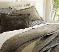Rustic Luxe™ Bedding - Brownstone #potterybarn