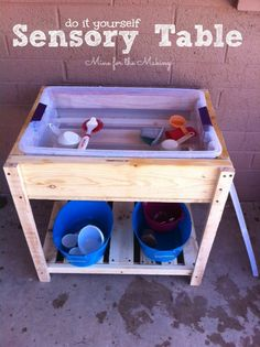 DIY Sensory Table I Heart Nap Time | I Heart Nap Time - How to Crafts, Tutorials, DIY, Homemaker